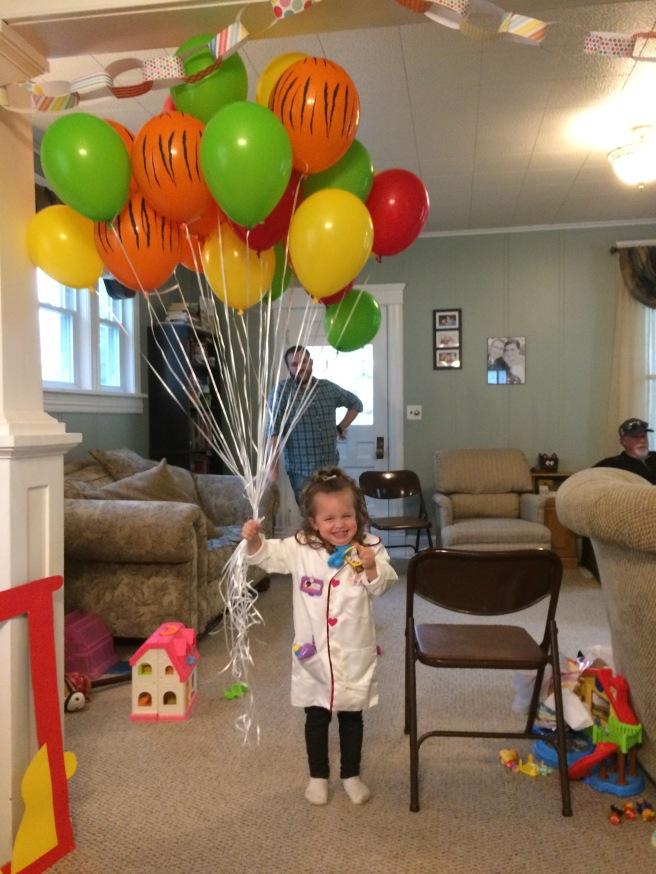 Happier than a Doc McStuffins with 2 dozen balloons.