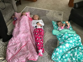 Camped out with cousins!