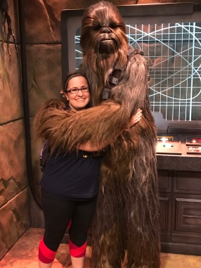 IT HAPPENED. I HUGGED A WOOKIEE.