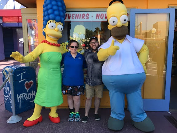 Hanging out with Homer and Marge